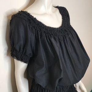 Vintage Pants - Vintage black lace one piece romper
